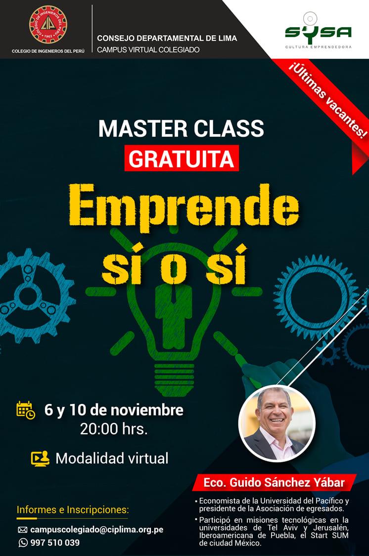 Master Class Gratuita – Emprende Sí o Sí