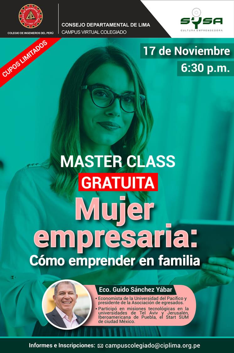 Master Class Gratuita – Mujer Empresaria