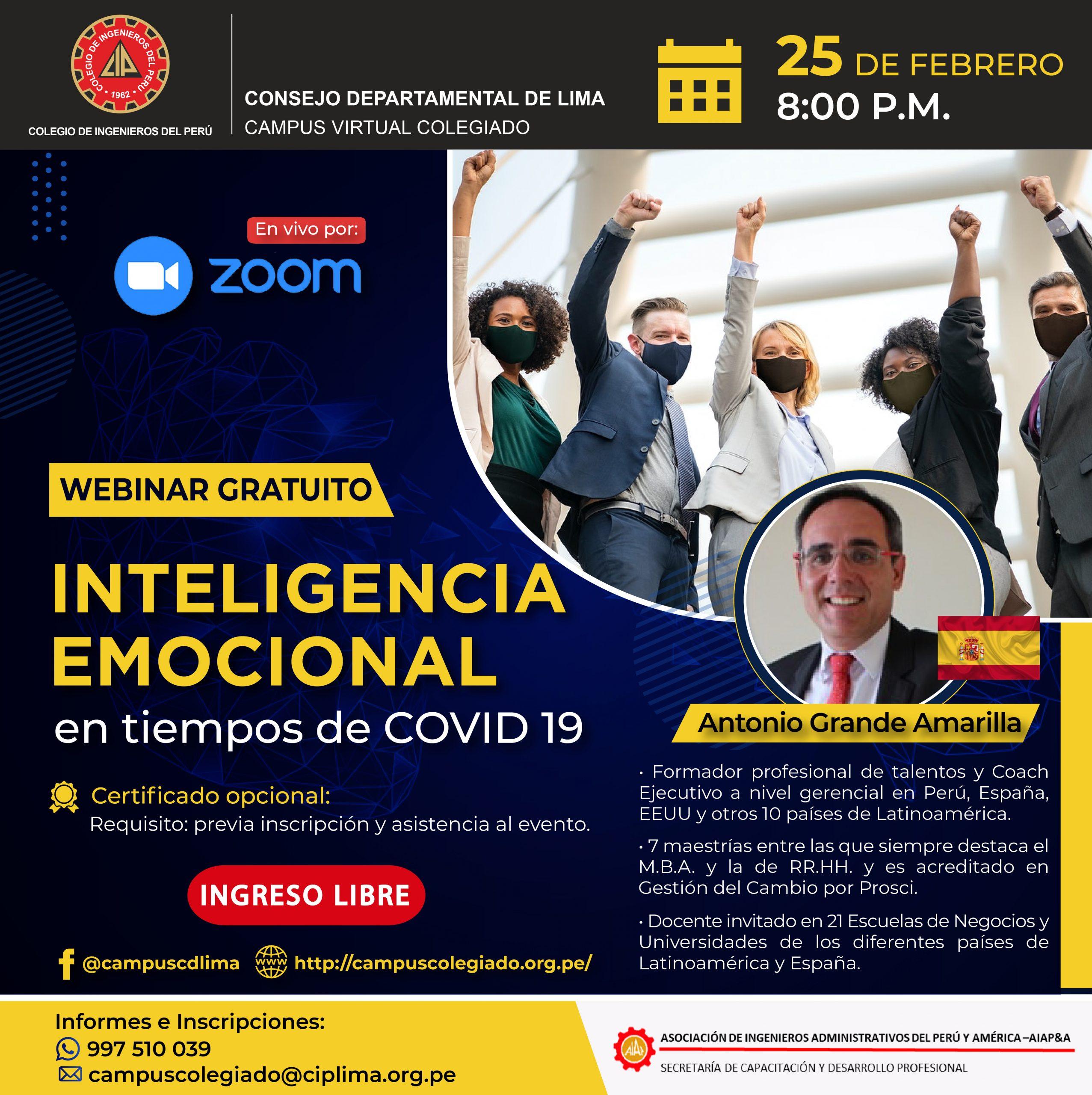 Inteligencia emocional en tiempos de COVID 19