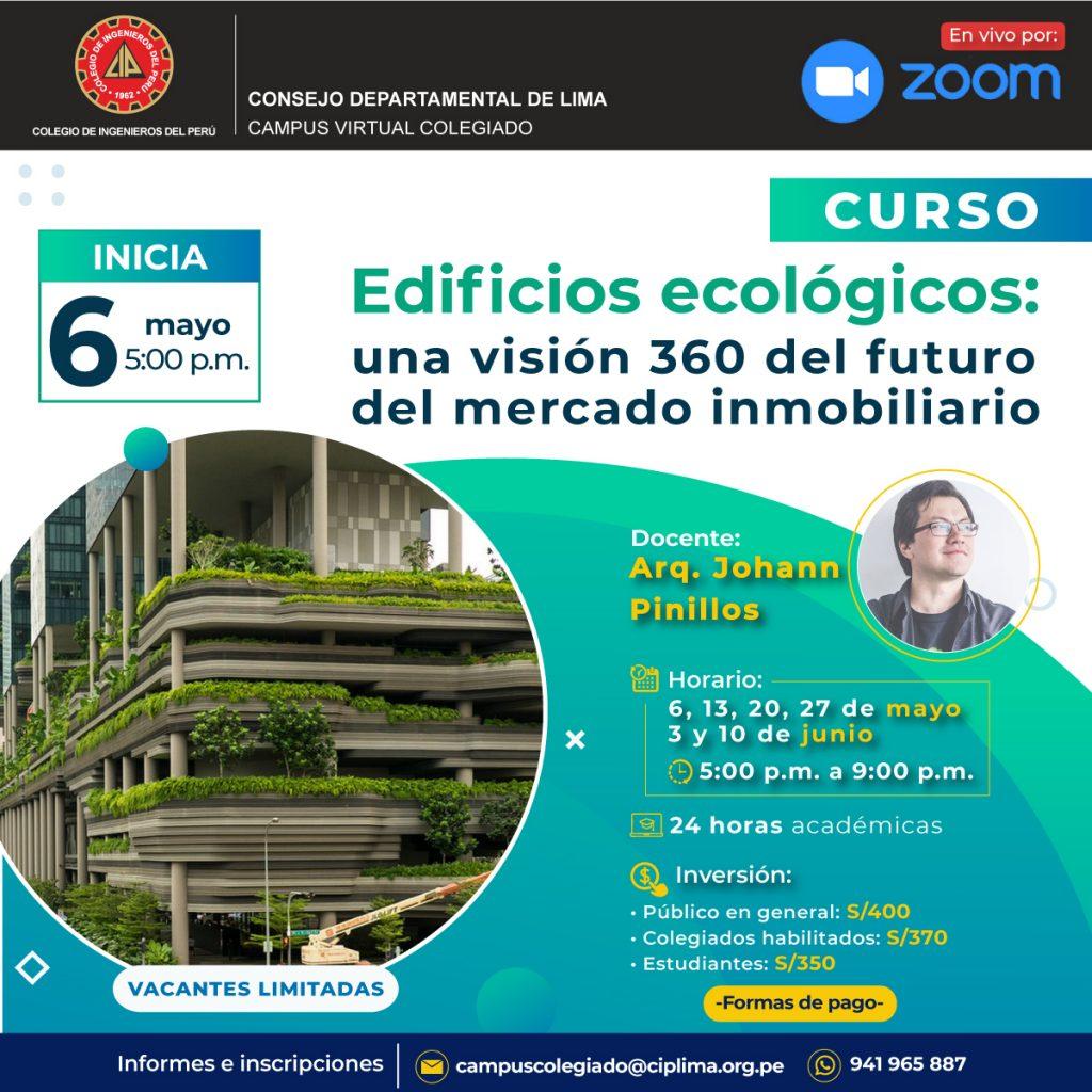 Curso: Edificios ecológicos, una visión 360 del futuro del mercado inmobiliario