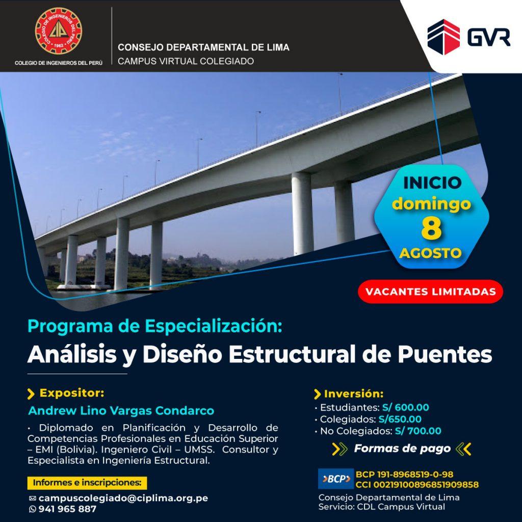 Curso: Análisis y Diseño  Estructural de Puentes