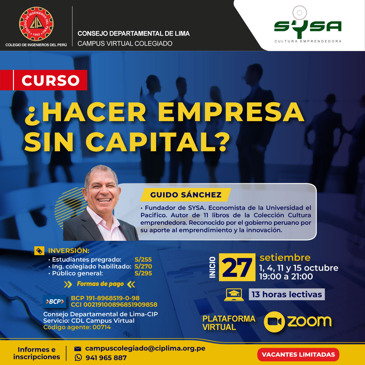 Curso: ¿Hacer empresa sin capital?