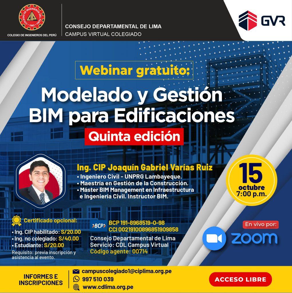 Webinar: Modelado y Gestión BIM para Edificaciones